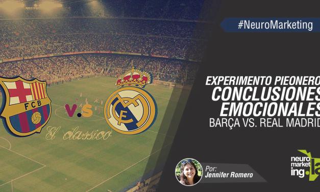 Experimento pionero: Conclusiones emocionales Barça vs. Real Madrid