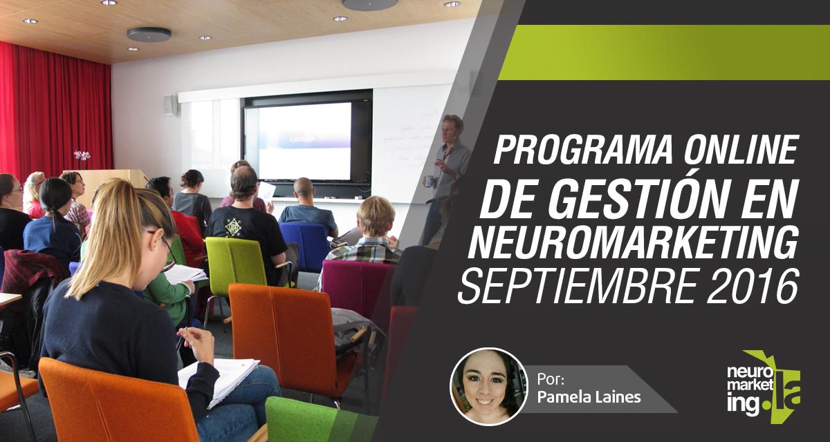 Programa Online de Gestión en Neuromarketing – septiembre 2016