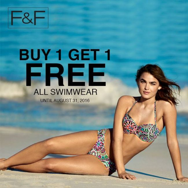 F&F BUY ONE GET ONE FREE PROMO