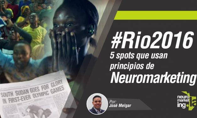 Neuromarketing Olímpico: 5 spots de atletas en #Rio2016