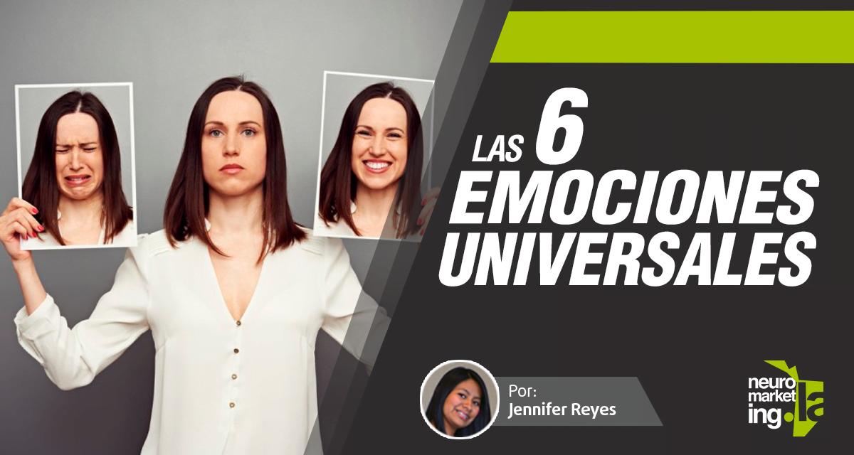 Las seis emociones universales