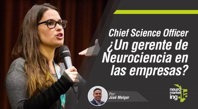 Chief science officer un gerente de neurociencia