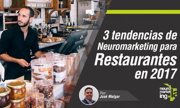 3 tendencias de Neuromarketing para restaurantes en 2017