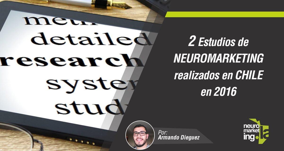 2 Estudios de neuromarketing realizados en Chile en 2016