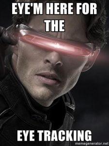 eye tracking meme