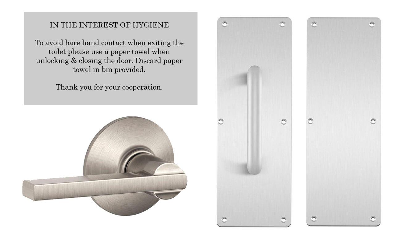 higiene y manijas de las puertas