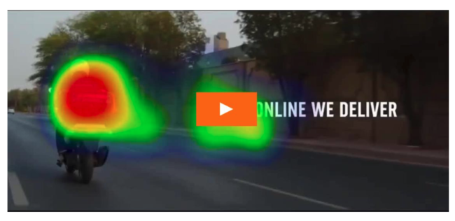Dominos Pizza spot eye tracking